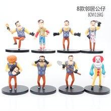 Figurines d'action Hello friend, Collection de poupées, cadeau pour enfants, 8 pièces/ensemble