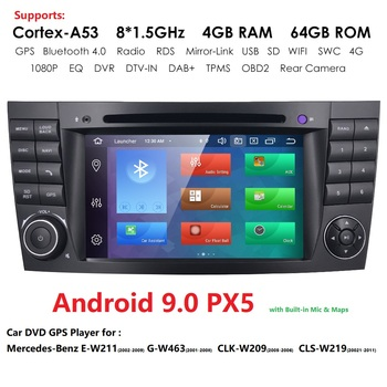 Android 10 7 2 Din 4GB 64GB Car Radio DVD GPS Navigation Stereo for Mercedes Benz G/E Class W211 W463 W209 W219 SWC Bluetooth image