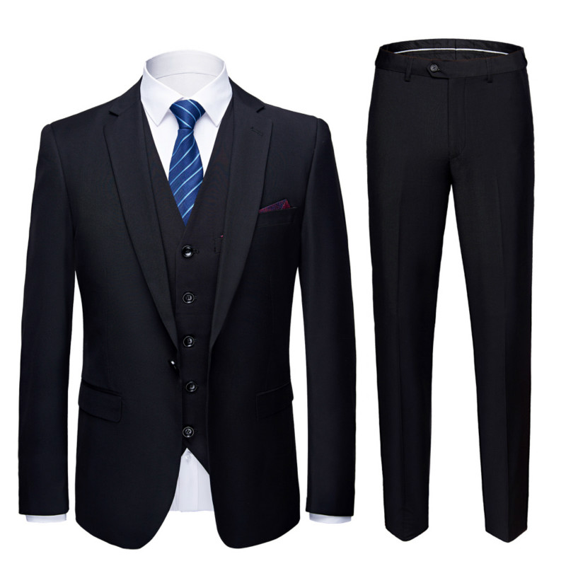 Three Suits (coat + Trousers + Vest) 21 Colors Men's Business Casual Work Wedding Wedding Occasions Suits Suits Large Size S-6XL