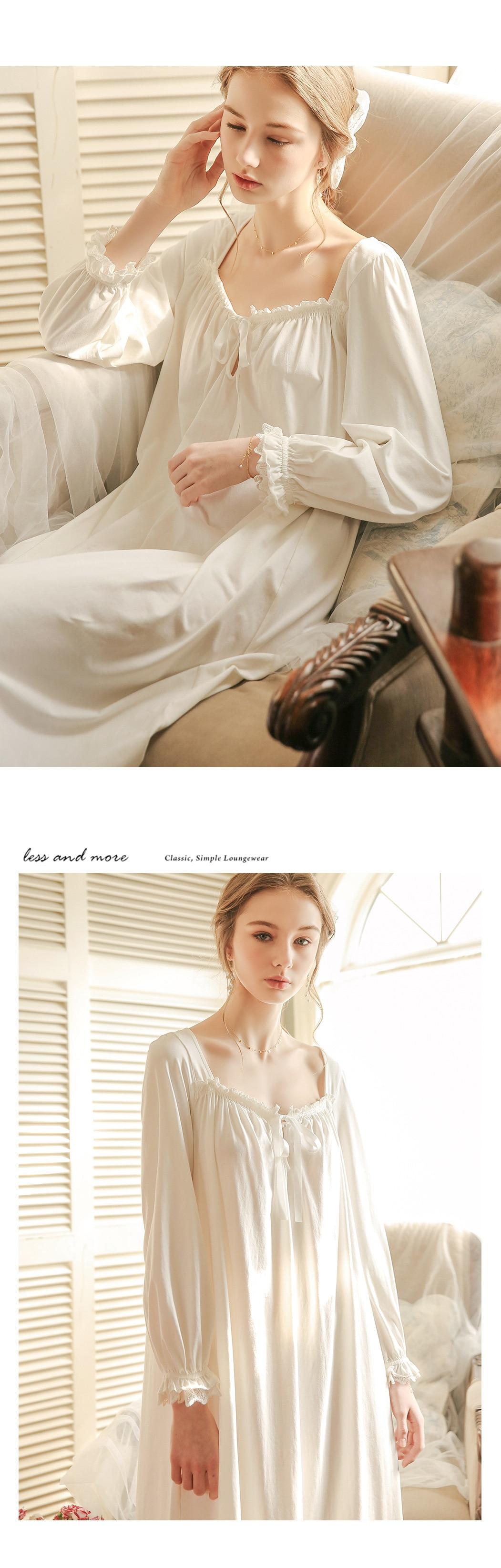 Long Sleeve White Nightdress