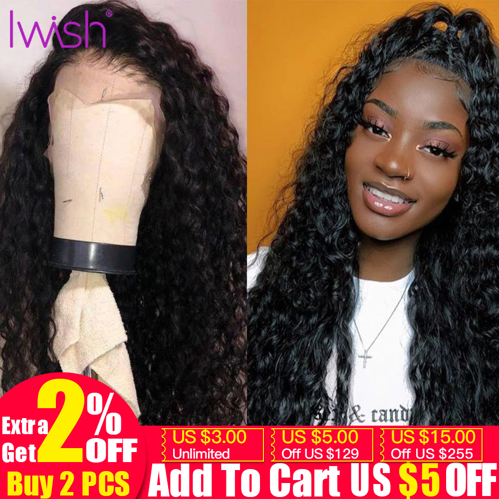 13x4 Curly Human Hair Wig 150% Remy Brazilian Wig Pre Plucked With Baby Hair In Transparent Lace Front Human Hair Wigs For Women