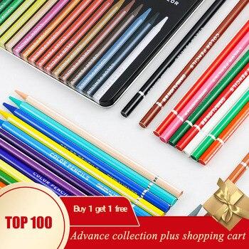 Conjunto de lápices de colores, material escolar prisma, 12/24 colores
