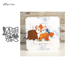 JC Metal Cutting Dies for Scrapbooking Fox Die Cut Card Make Stencil Craft Folder Paper Model Album Decoration 2019 New