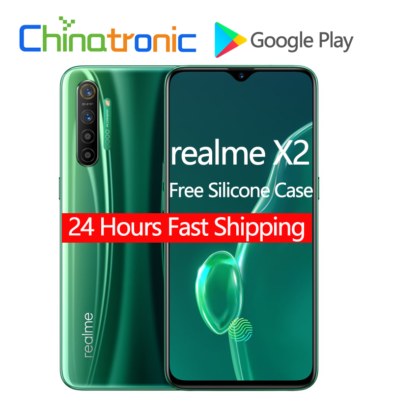 """Original New realme X2 X 2 6GB 64GB 4G FDD LTE Mobile Phone 6.4""""FHD+ Snapdragon 730G Octa Core VOOC 30W Fast Charger 64MP NFC