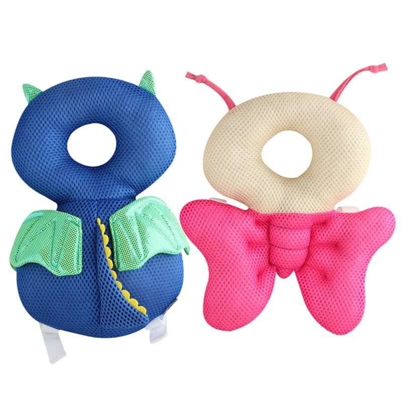 Newborn Child Baby Head Back Protector Safety Pad Baby Child Harness Tiara Bear Bunny Head Protection Pad Protection Pillow