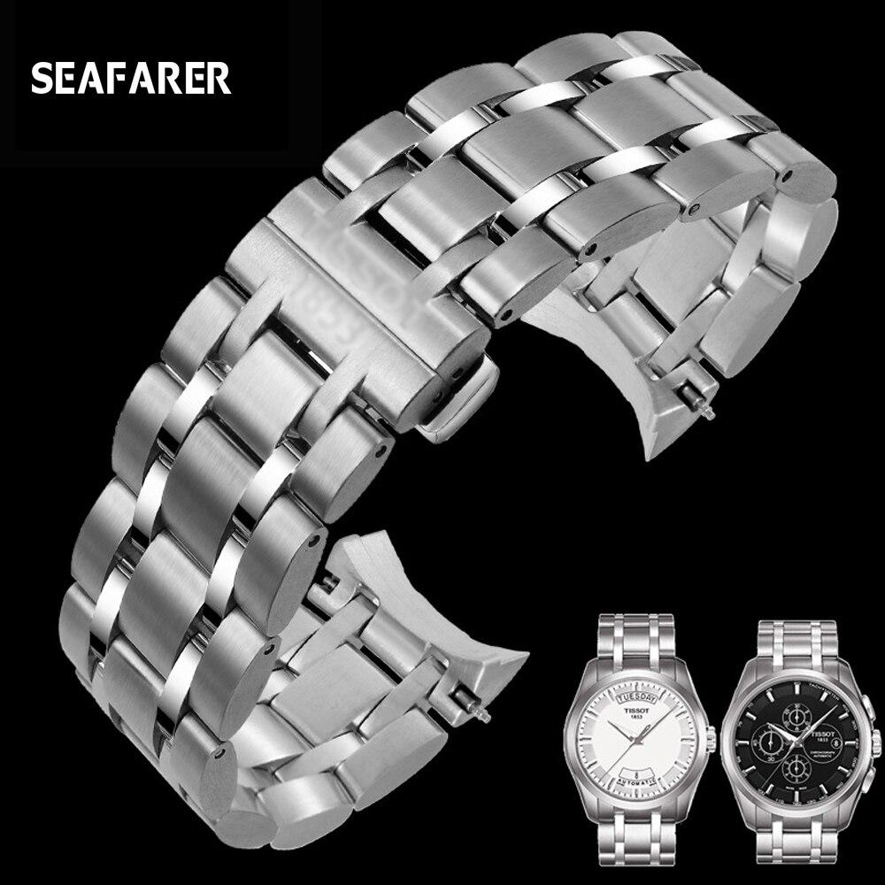 Ремешок из нержавеющей стали для мужских часов Tissot T035 Couturier, 22 мм 23 мм 24 мм, ремешок для часов, брендовый ремешок для часов T035617 T035439A, браслет