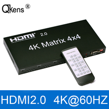 Audio Video Hdmi Matrix Splitter Switcher Edid-Control Output with RS232 for PS4 DVD