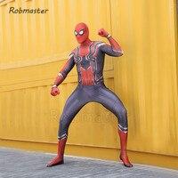 Iron Spiderman Costume Cosplay Adults Kids Avenger Superhero iron Spider Costume Mens Boys Jumpsuit Suit Halloween Costumes Suit