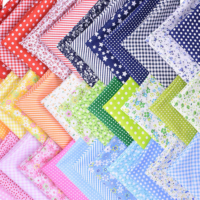 50*50 センチメートルパッチワークフラワープリント 100% 綿生地diyの縫製アソート柄綿布ハンドメイド刺繍工芸品 7 個