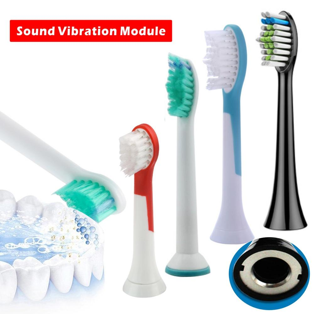4pcs/lot HX6064 Vibrating Toothbrush Replacement Head for Philips Sonicare ProResults Xiaomi HX6013 image