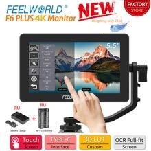 Feelworld Monitor de campo de cámara 4K HDMI, pantalla táctil IPS 3D Lut de 5,5 pulgadas, Full Hd, 1920X1080, para cámara DSLR F6 Plus