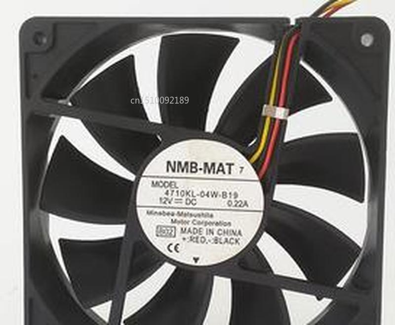 For Original 12025 12V 0.22A 12CM Silent Chassis Fan Computer Fan 4710KL-04W-B19 Free Shipping