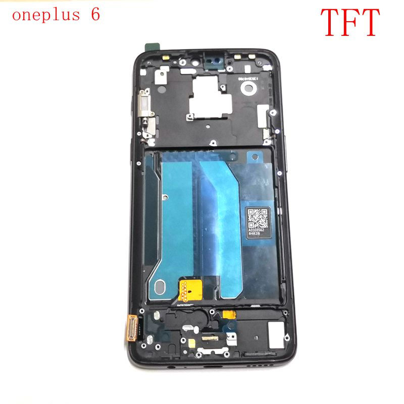 TFT For <font><b>Oneplus</b></font> 6 <font><b>A6000</b></font> A6003 Lcd <font><b>Screen</b></font> DIsplay+Touch Glass Digitizer frame Assembly Pantalla Replacement Part oneplus6 <font><b>screen</b></font> image