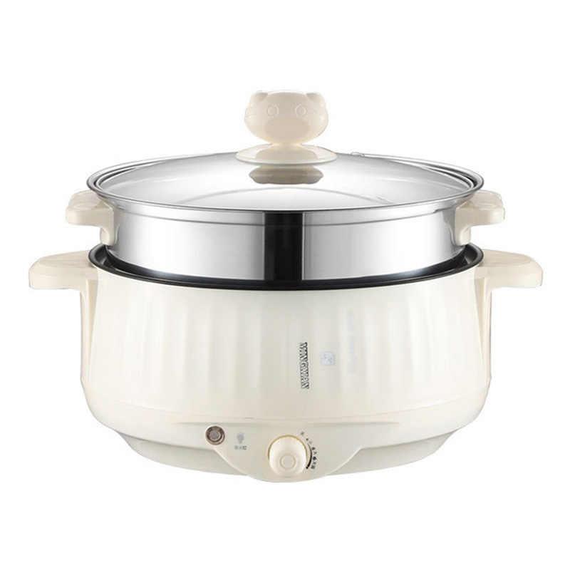220V Multifungsi Listrik Pemanasan Pan Listrik Memasak Pot Mesin Hotpot Mie Telur Sup Steamer Rice Cooker Mini