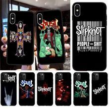 Cover-Hull Slipknot Rock Phone-Case Black 6s-Plus for 11 Pro-Xs MAX TPU 5S 8 7