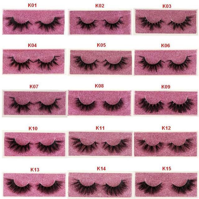 Mink Lashes 3D Mink Eyelashes 100% Cruelty free Lashes Handmade Reusable Natural Eyelashes Popular False Lashes Makeup E1- E13 4