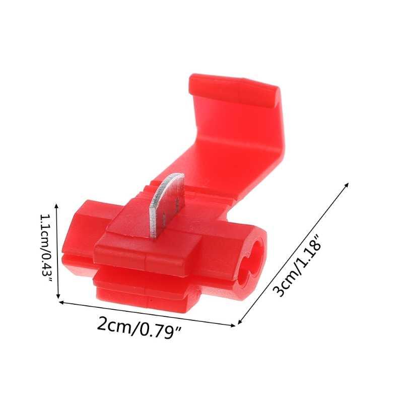 10pcs ใหม่อัตโนมัติ 2 Pin T รูปร่างสายไฟขั้วต่อ Crimp Scotch ล็อค Quick Splice ชุดเครื่องเสียงรถยนต์เครื่องมือรถอุปกรณ์เสริม