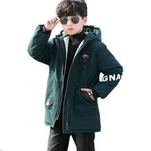 Одежда для мальчиков флисовые зимние парки Детские куртки теплое