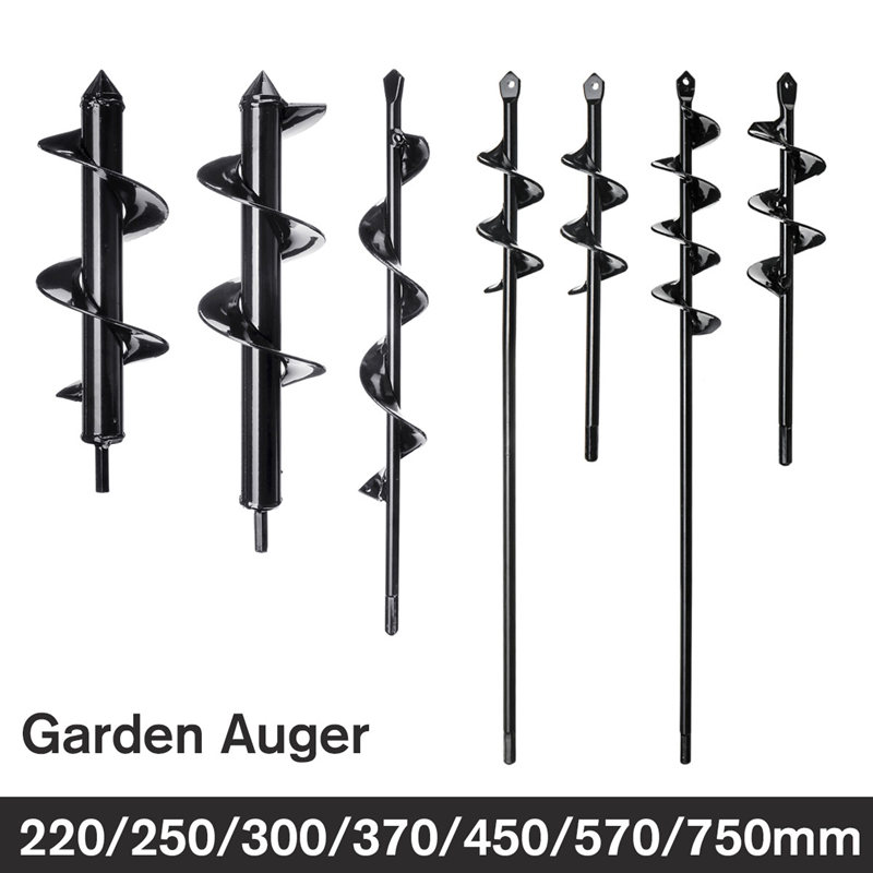 1pcs Earth Auger Hole Digger Tool Garden Planting Machine Drill Bit Fence Borer Post Post Hole Digger Garden Auger Yard Tool