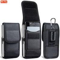 아이폰 13 프로 맥스 12 미니 11 프로 맥스 X 8 7 6 6S 플러스 5 5S SE 4s Xr Xs 맥스 케이스 벨트 클립 홀스터 카드 커버, 핸드폰 가방 파우치