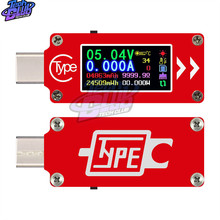 Multifunction Capacity Voltage Ammeter Color Screen Fast Charge LCD USB Portable Type-C Tester Tool Temperature Measurement