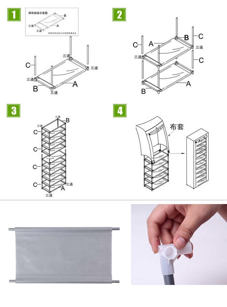Modische vlies Stoff Schuh Rack Zimmer-saving 9 Gitter Schuh Schrank Möbel-Lila