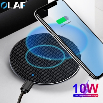 Olaf 10W Qi Wireless Charger For Samsung Galaxy S10 S9/S9+ S8 Note 9 USB Fast Charging Pad for iPhone 11 Pro XS Max XR X 8 aiyima qi wireless charger for iphone xs max x xr 8 automatic induction car phone holder fast charging for samsung note 9 s9 s8