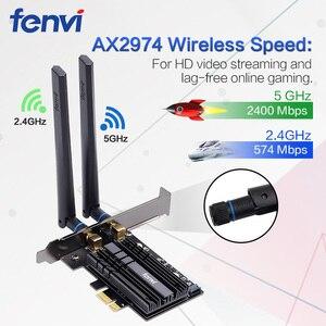 Image 2 - Adaptador WiFi inalámbrico de doble banda, 2,4 Gbps, AX200, Bluetooth 5,1, 802.11ax, tarjeta wifi PCI E de escritorio para tarjeta Wlan de red AX200NGW