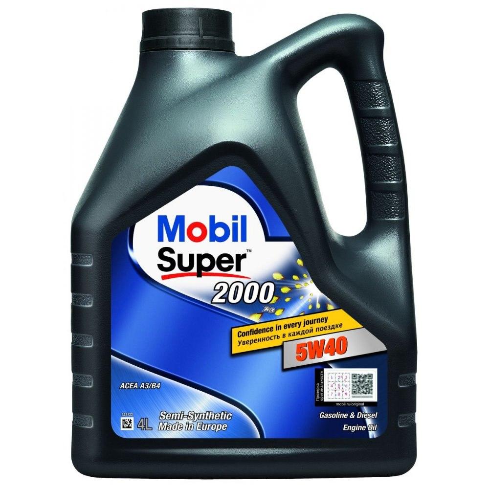 Моторное масло MOBIL SUPER 2000 X3 5W40 4L (155337)