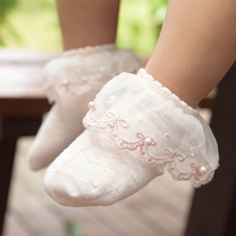 Spring And Summer New Children's Socks Kids Girls Baby Mesh Lace Socks