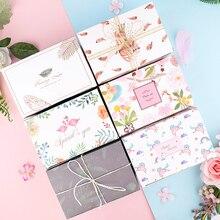 Caja de regalo con dibujos de flamencos y unicornios, bolsa creativa de alta gama, para pastel de piña, galletas, turrón de boda