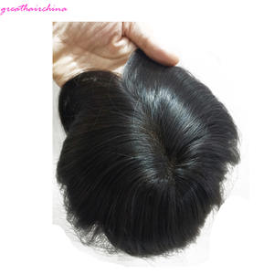 1PCS 14.5x12cm 8 inches Frontal High quality 100% Real Natural Human Woman of Hair Closure With Skin All Around pu Free Shipping