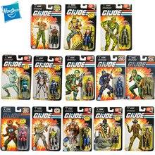 Hasbro GIJOE 25th Anniversary Anime Figures Commander Flint Roadblock Stalker Torch NINJA Anime Decor Gift Model Toy 3.75 Inch