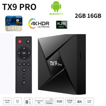 TX9 Pro Android 7,1 Smart TV Box Amlogic S912 2GB 16GB Mit Alic 2,4 GHz/5GHz dual WiFi 4K Media Player Youtube Set Top Box(China)
