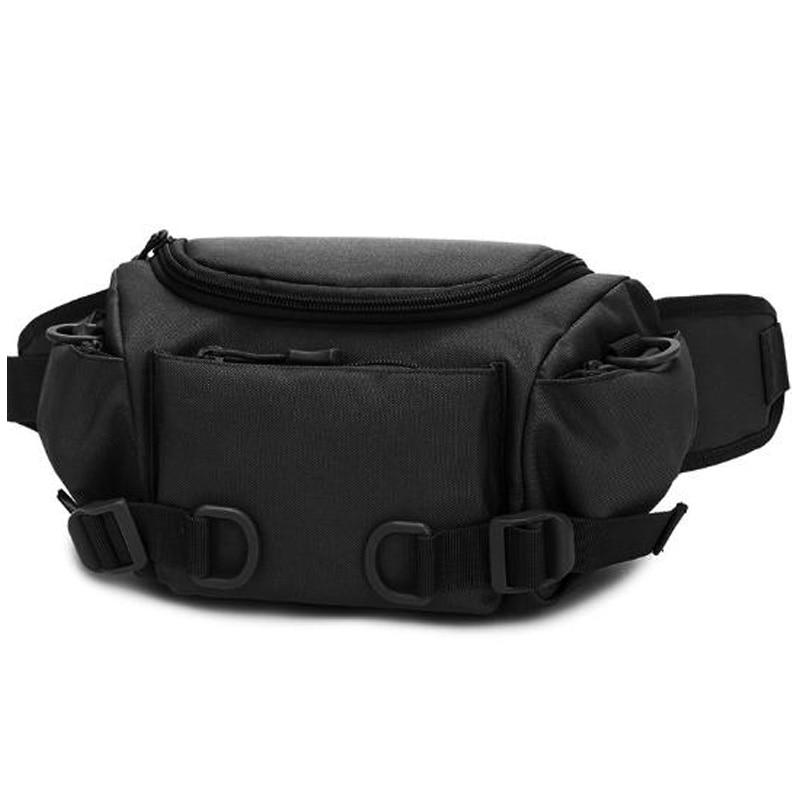 Men'S Pockets Pockets Nylon Waterproof Belt Bag Travel Riding Motorcycle Multi-Function Small Bag