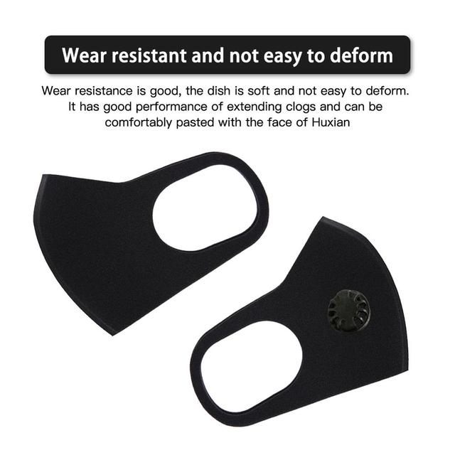 Dust mask PM2.5 with mesh filter outdoor multi-layer anti-pollution anti-fog haze anti-bad breath mountain bike riding mask 3