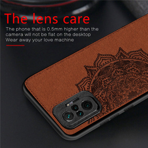 Image 3 - Cover For Xiaomi Redmi Note 10 Pro Case For Redmi Note 10 Pro Capas TPU Cloth Fabric Texture Cover For Redmi Note 10 Pro Fundas