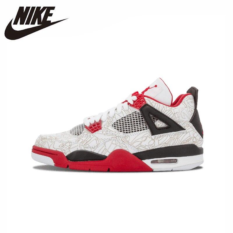 Nike Air Jordan 4 Retro Original nueva llegada hombres baloncesto zapatos transpirables deportes al aire libre zapatillas #308497/408202