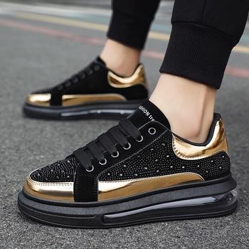 Męskie buty na co dzień marki buty sportowe męskie buty sportowe odkryte buty biegowe z poduszkami powietrznymi męskie buty moda oddychające męskie buty sportowe tanie i dobre opinie siddons Cotton Fabric CN (pochodzenie) RUBBER Lace-up Pasuje prawda na wymiar weź swój normalny rozmiar Podstawowe Wiosna jesień