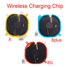 Chip de carregamento sem fio nfc, bobina para iphone 8g 8 plus x, carregador de painel, adesivo, cabo flexível, 1 peça
