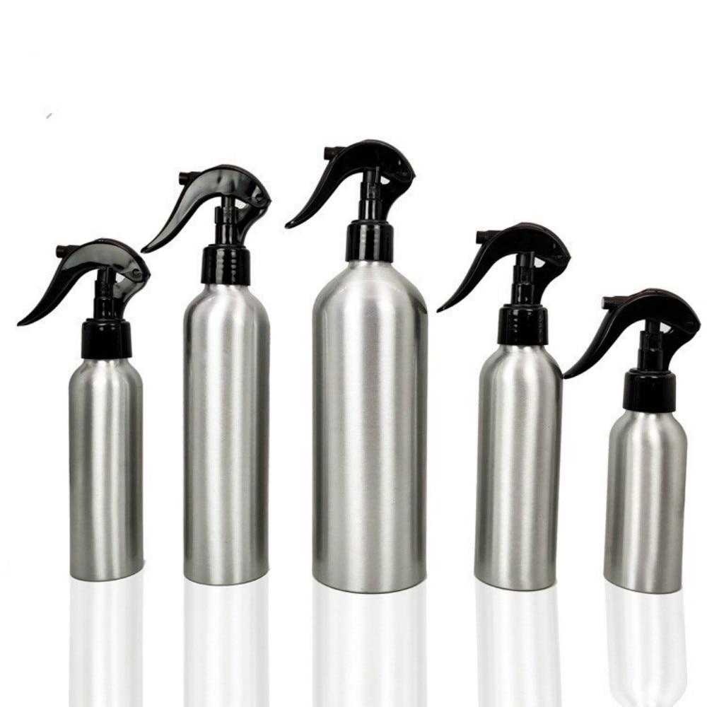 1 adet 30-500ML alüminyum şişe boş sprey şişeleri pompa püskürtücü ince sis sprey doldurulabilir şişeler su püskürtme şişesi yağmurlama