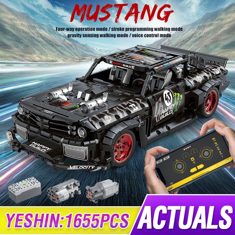 compativel lepining tecnica rc ford mustang hoonicorn rtr v2 cidade carro moc 22970 led tijolos modelo