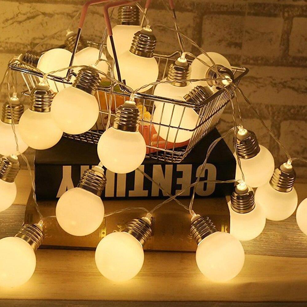1.5m G45 LED String Light With 10 Milky Bulb Outdoor Party Patio Decor Vintage LED Garland Globe Bulb Fairy Light Wedding D40