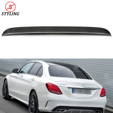 цена на W205 Sedan Carbon Spoiler OEM Style For Mercedes-benz C250 C300 C200 C63 Rear spoiler trunk wing 2014 2015 2016 2017 2018 2019