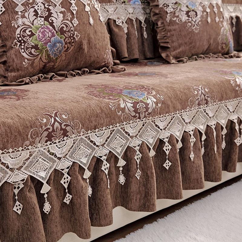 Fyjafon Sofa Cover Chenille Non Slip Sofa Towel Washable Sofa Cover Not A Set Sofa Couch Cover Slipcovers