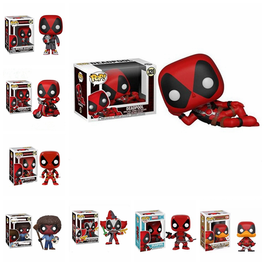 Funko POP Marvel Bedtime Deadpool On Scooter Clown Deadpool Pvc Action Figure Collection Toys For Children Christmas Gifts