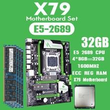 Комплект материнской платы huananzhi X79 с Xeon E5 2689 4x8 ГБ = 32 Гб 1600 МГц DDR3 память ECC REG USB3.0 SATA3 PCI E NVME M.2 SSD