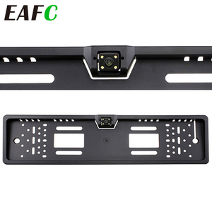 Auto Parktronic EU Car License Plate Frame HD Night Vision Car Rear View Camera Reverse Rear Camera With 4 Led Light