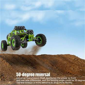 Wltoys 12428 RC Car 4WD 2.4Ghz 1:12 Radio Remote Control Crawler Off-road Model Toy High Speed 50km/h Vehicle With LED Light 2