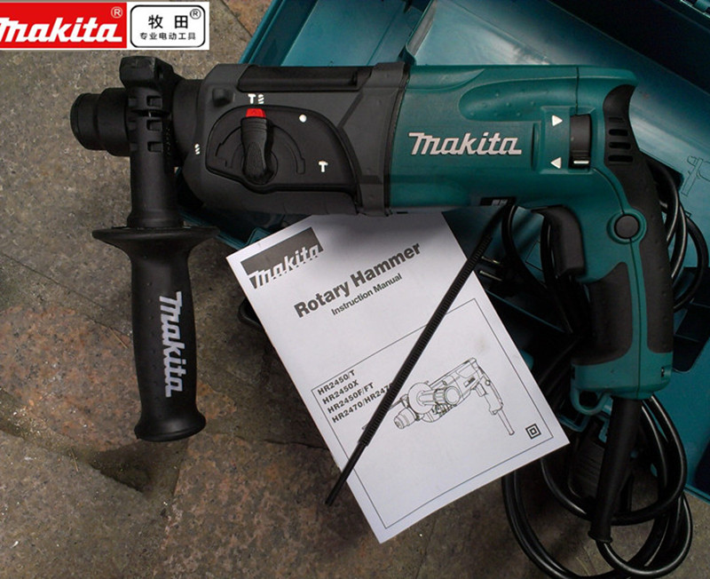 220-240V Makita HR2470F Rotary Hammer Hammer Stonecutter 780W SDS Plus